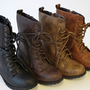 Alice 2 women Low Heel Knight & Military ankle combat Boots British Style