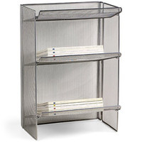 3-Tier Mesh Periodical Rack