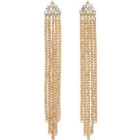 Charlotte Russe - Diamond-Top Tassel Earrings