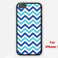 iPhone 5 Case, Chevron iphone 5 case, blue chevron iphone 5 case, geometric graphic iphone case, iphone case