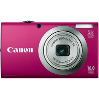 Canon PowerShot A2300 IS 16.0 MP Digital Camera with 5x Digital Image Stabilized Zoom 28mm Wide-Angle Lens with 720p HD Video Recording (Red) | www.deviazon.com