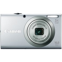 Canon PowerShot A2300 IS 16.0 MP Digital Camera with 5x Optizal Image Stabilized Zoom 28mm Wide-Angle Lens with 720p HD Video Recording (Silver) | www.deviazon.com