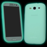 BoxWave Samsung Galaxy S3 i9300 Active Glow Case - Low-Profile Glow in the Dark Skin Case for the Samsung Galaxy S3 - Galaxy S3 Cases and Covers