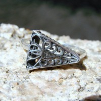 Tango  Sterling Silver Ring  245 by Firefallstudios on Etsy