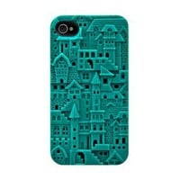 Amazon.com: SwitchEasy SW-CHA4S-TU Avant-garde Hard Case for iPhone 4 & 4S - 1 Pack - Case - Retail Packaging - Chateau - Turquoise: Cell Phones & Accessories