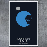Doctor Who Poster: Journey&#x27;s End- 11&quot;x17&quot; Science Fiction Art Print