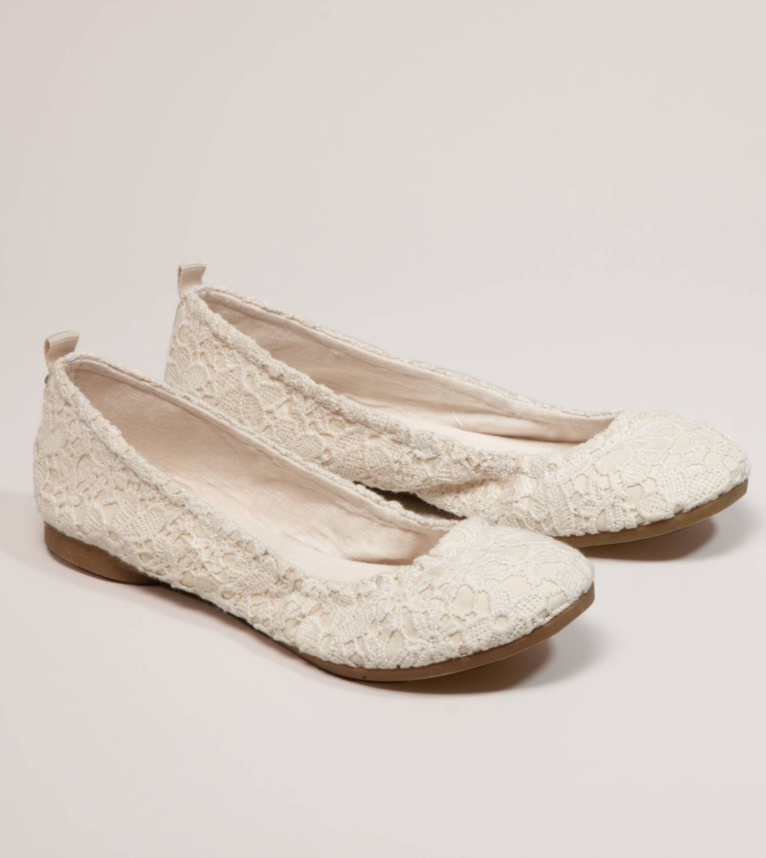 AEO Crocheted Lace Ballet Flat | American Eagle Outfitters