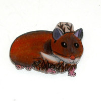 Hamster Reindeer Magnet, Christmas Décor, Decoration, Kids Stocking Stuffer, Handmade Deer, Kawaii Animal, Holiday, Whimsical, Fridge