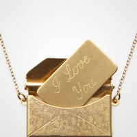 Love Letter Locket Necklace