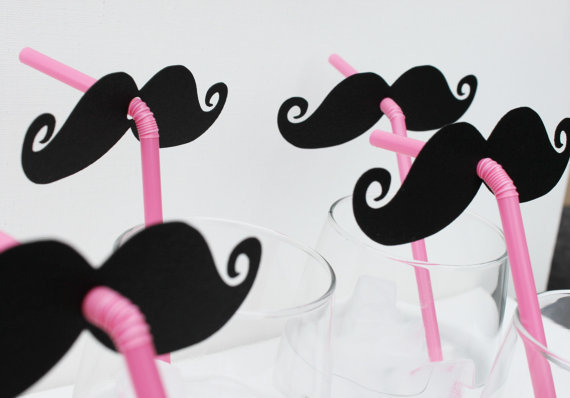 Mustache and Pink Straw Photo Prop Candy Bar by LittleRetreats