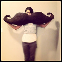 Mustache Body Pillow Suede by lovenomadicwren on Etsy