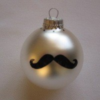 Mustache Christmas Ornament by TheStyleHouse on Etsy