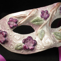 Little Lady Hydrangea Mask for by effigymasks on Etsy