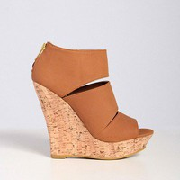 Sleek Triple Bar Cork Wedge - 2020AVE