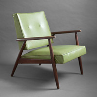 Mid Century Wood Lounge Chair - Modern, Side, Green, Retro, Eames