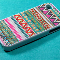 Pink Aztec Iphone 4 Case, Iphone Case, Iphone 4s Case