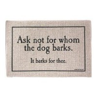 Amazon.com: For Whom The Dog Barks Doormat: Patio, Lawn & Garden