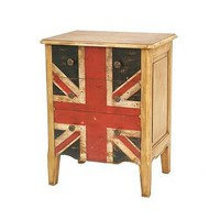 union jack mahogany bedside table by posh interiors | notonthehighstreet.com