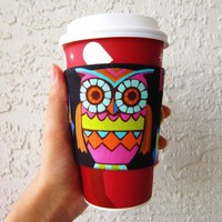 Owl Coffee Sleeve from Love What's Missing