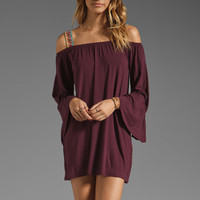 VAVA by Joy Han Rachel Dress in Wine from REVOLVEclothing.com