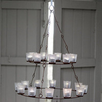 Pale and Interesting - Hanging Tealight Chandelier-Double