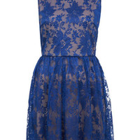 Blue Scallop Hem Lace Dress - View All  - New In