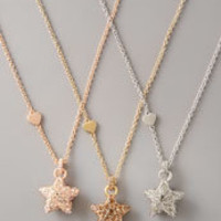 Pave Star Pendant Necklace