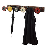 RECLAIMED TEXTILE SPOOL COAT RACK | Robbie Cook, Hanger, Home Decor, Antique, Industrial Accent | UncommonGoods