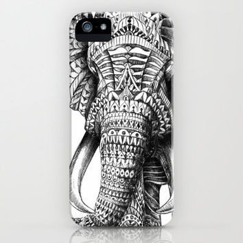 Ornate Elephant iPhone Case by BioWorkZ | Society6