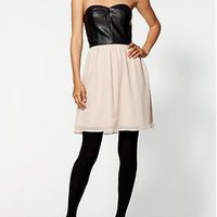 Sabine Vegan Leather Bustier Dress | Piperlime