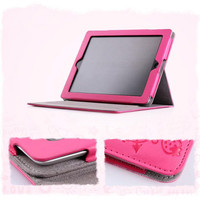 iPad2 Leather Protection Cover 3Fold Bag Gift for Her - GULLEITRUSTMART.COM