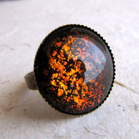 Molten Rainbow Ring in Antiqued Brass by AshleySpatula on Etsy