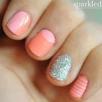 Sparkled Apricot Nails ? Cupcakes and Cashmere
