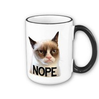 Grumpy Cat Mug &quot;NOPE&quot; from Zazzle.com
