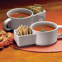 2Pc Soup And Cracker Mugs By Collections Etc