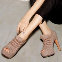 2011 Fall and Winter Fashion Ladies Pumps Apricot  : Wholesaleclothing4u.com