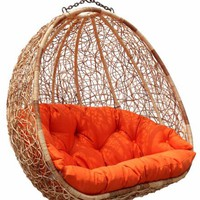 Estella - Dual Sitting Outdoor Wicker Swing Chair/Porch Hanging Chair - DL024TW