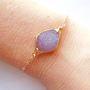 Druzy Bracelet in Peony Pink