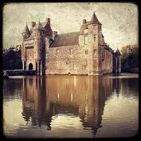 NEW 2011 PRINT Chateau de Trecesson 8x8 by MarcoLaGrenouille