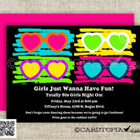 80s BIRTHDAY PARTY Invitations Totally 80s Party 80s Baby Shower 80s Bachelorette Party Girl or Boy Printable Cards - 109978699