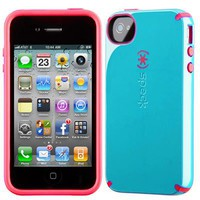 Apple Iphone 4 4s Speck Products Batwing Candyshell Cotton Dandy Blue At&amp;t Retail Packaged