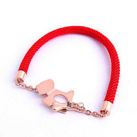 Cute Dog Red String Bracelet for Men and Women - GULLEITRUSTMART.COM