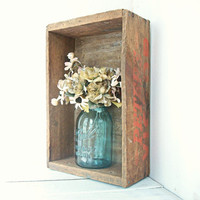 Autumn Home Decor Vintage Wooden Box by RhettDidntGiveADamn
