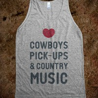 Cowboys Pickups &amp; Country Music (Tank)