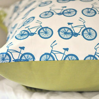 Bicycle Pillow by norajane on Etsy