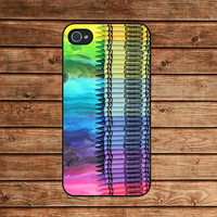 Melting Crayola Crayons-iphone 4 case,iphone 4s case  ,in plastic or silicone case