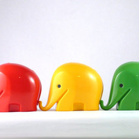 Iconic Colani Drumbo Elephant Money boxes (set of 3)