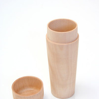 Beklina : Japanese Wood Tea Canister $240.