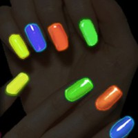 Cool Stuff - Black Light Responsive Nail Polish 4-Piece Set AL#E10033
