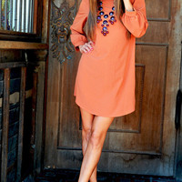 RESTOCK Where Have You Been All My Life Tunic: Rust | Hope's